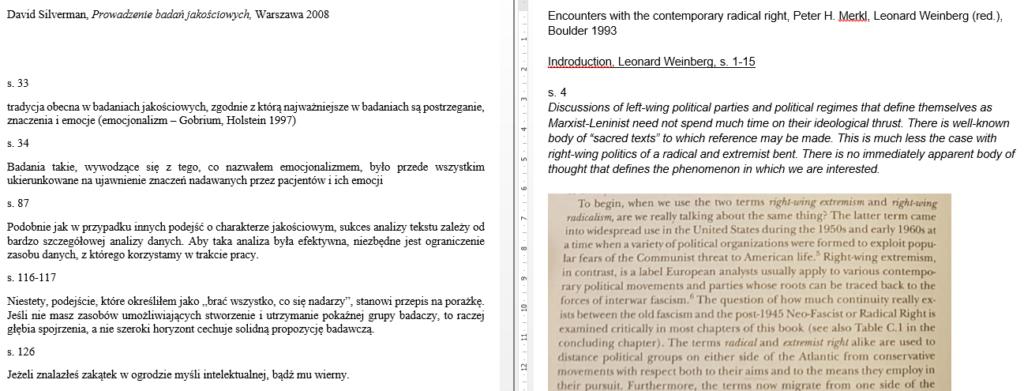 Pisarnia - przykład notatek
